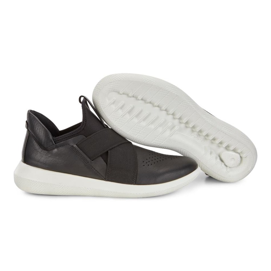 Ecco Scinapse Black/Black Racer Yak/Textile Casual Shoe - black black