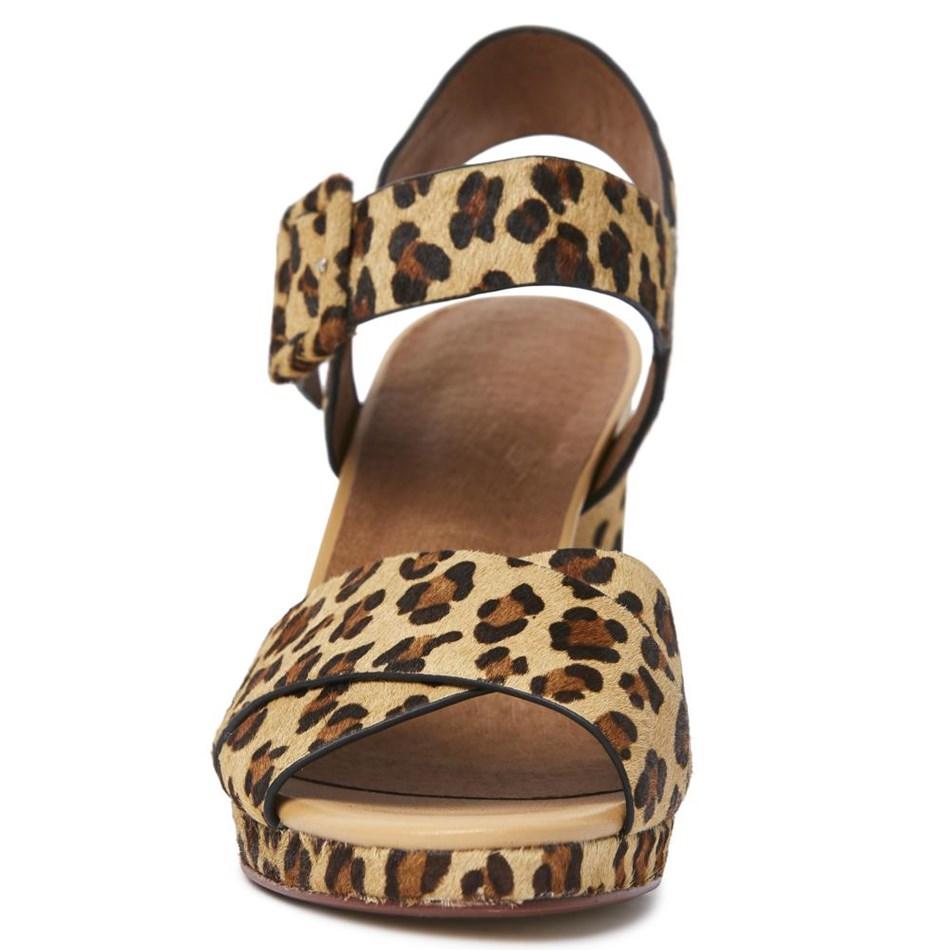 Miss Wilson Harper Heel - leopard calf hai