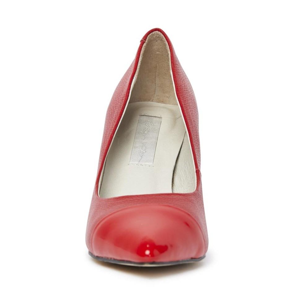 Kathryn Wilson Lola Heel - red calfpatent