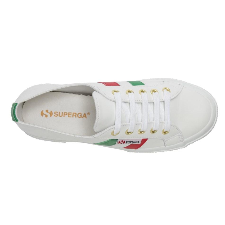 Superga 2750 Leanappau Flagside Casual Shoe - u16 white italia
