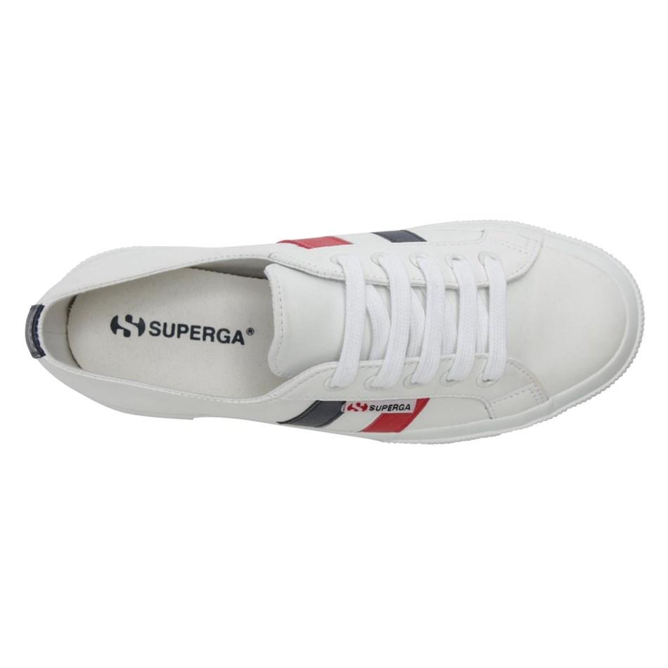 Superga 2750 Leanappau Flagside Casual Shoe - u17 white french flag