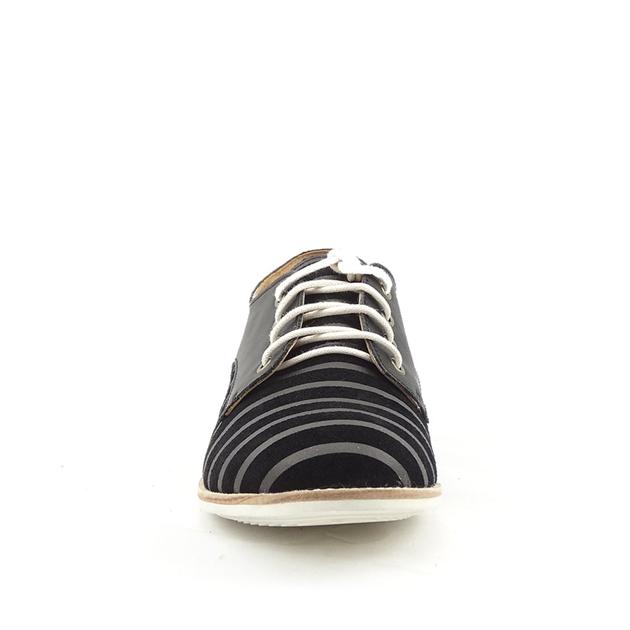 Rollie Derby Shoe - black lines black