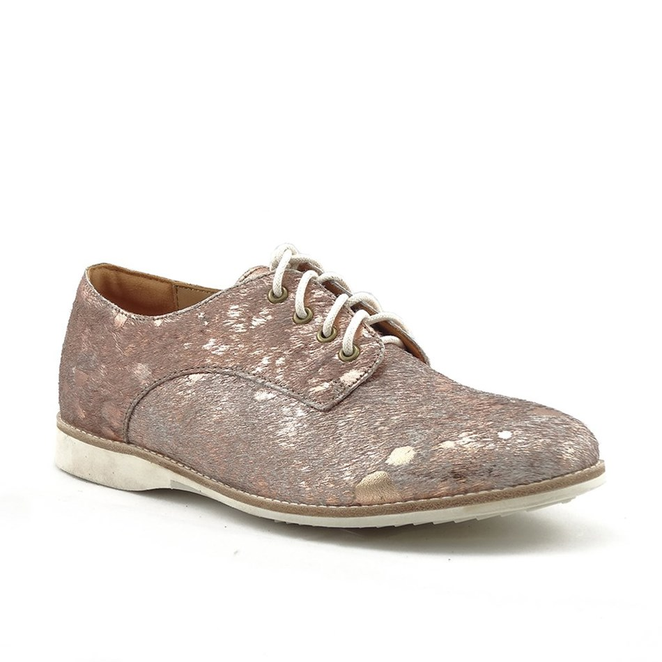 Rollie Derby Shoe - sage rose gold splat