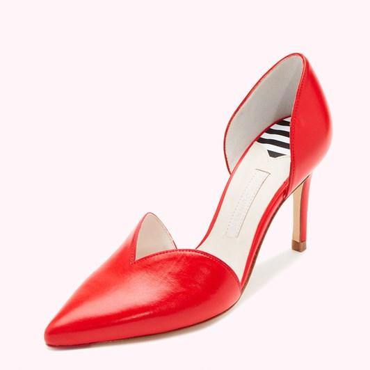 Lulu Guinness Heart Bonnie Kid Leather Court Shoe