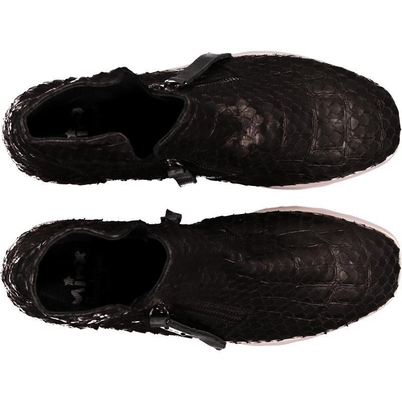 Minx Voo Doo boot - black paper fish
