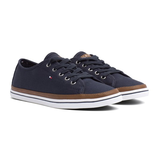 Tommy Hilfiger Contrast Detail Canvas Trainers