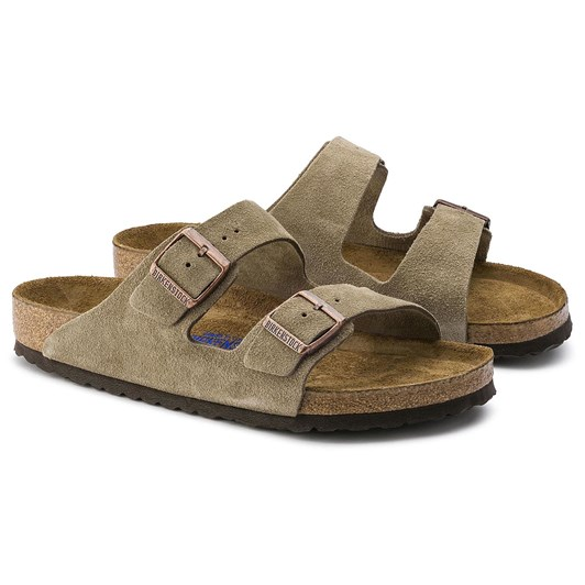 Birkenstock Arizona Soft Footbed Suede Leather