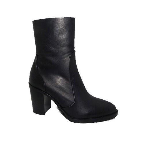 Lokas Leather Block Heel Boot