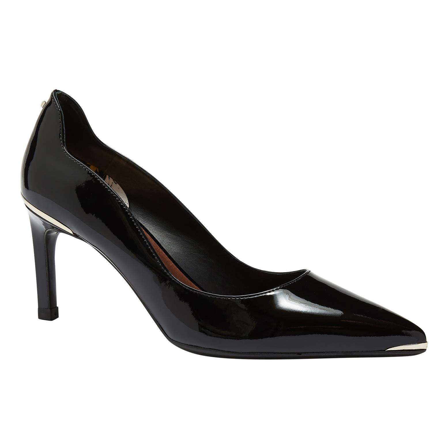 Low Heel Patent Leather Courts