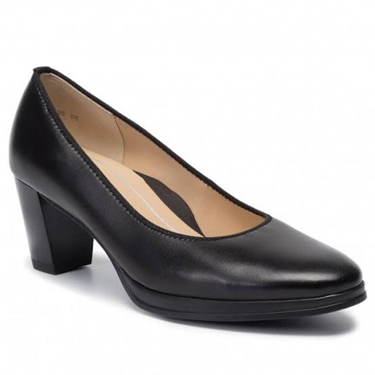 Ara Court Shoe 50Mm Black Soft Nappa