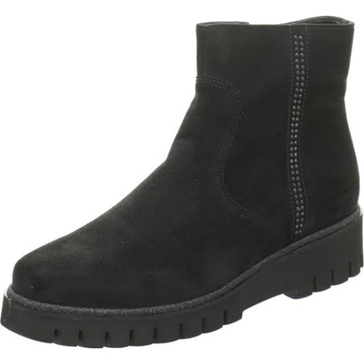 Ara Ankle Boot 20Mm Black Scala Fabric