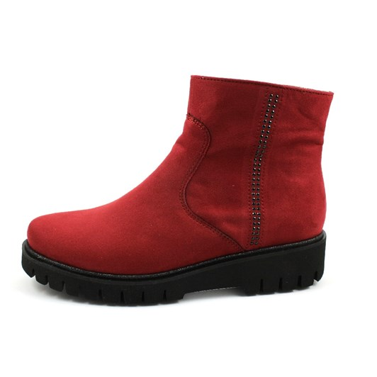 Ara Ankle Boot 20Mm Red Scala Fabric