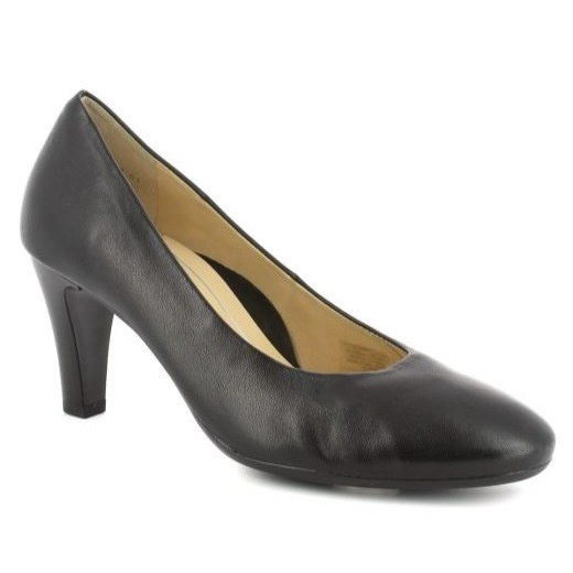 Ara Court Shoe 70Mm Black Glove Kid