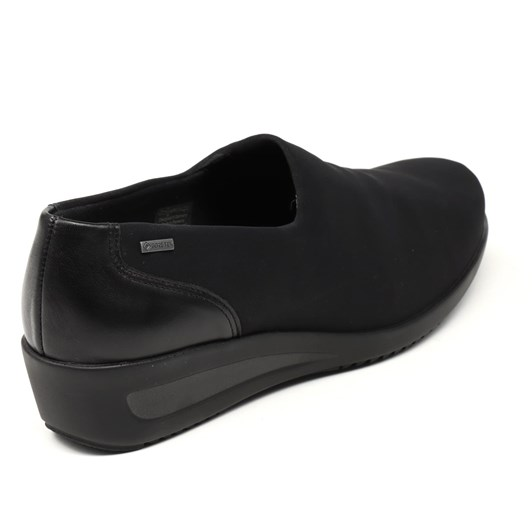 Ara Casual Tab Slip On 30Mm Black Water Repellant Stretch Fabric