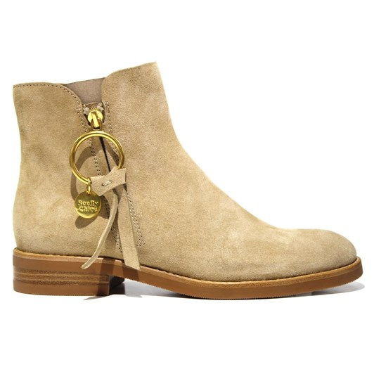See By Chloe Ring Zip Flat Boots