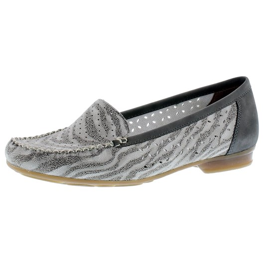 Rieker Punched Contrast Loafer