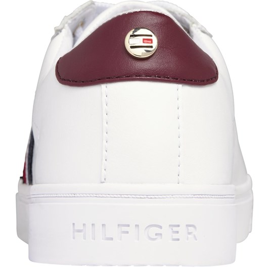 Tommy Hilfiger Knitted Panel Leather Trainers