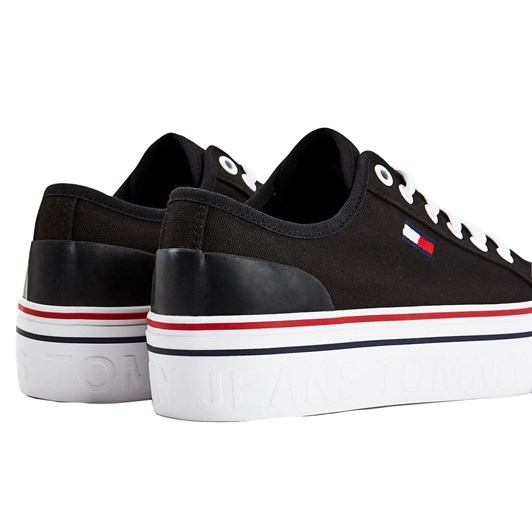 Tommy Jeans Canvas Flatform Trainers