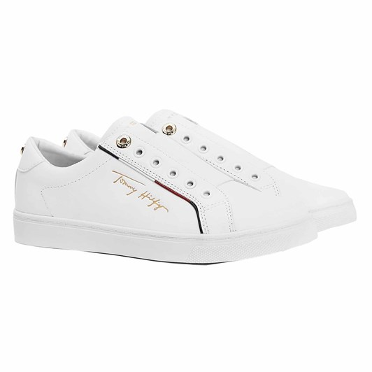 Tommy Jeans Signature Logo Leather Trainers