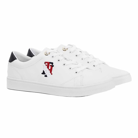 Tommy Jeans Leather Monogram Trainers