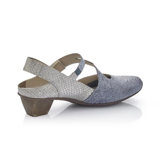 Rieker Mid Heel Textured Shoe