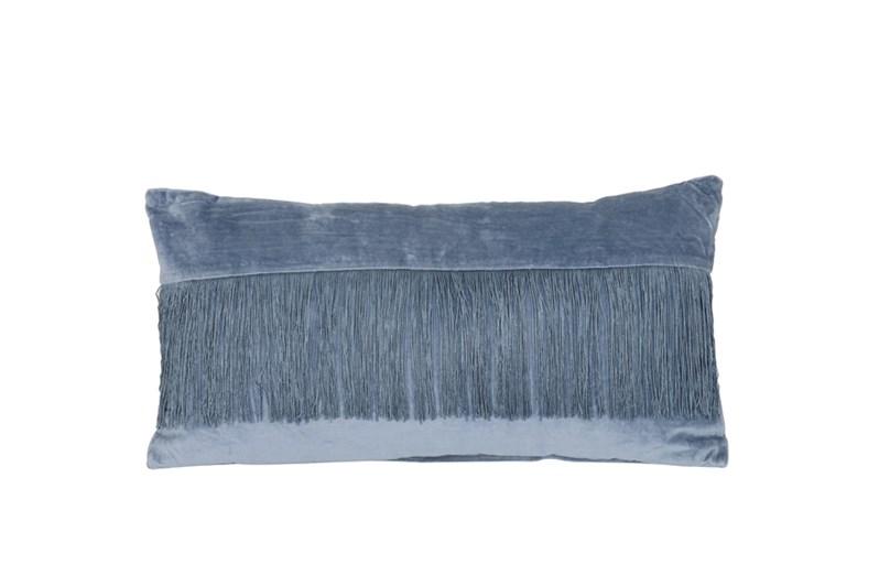 Light & Living Pillow 60X30 Cm Fringes Blue