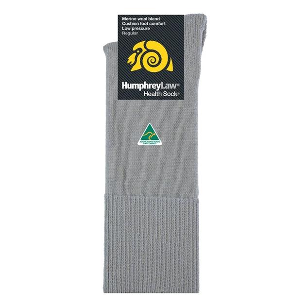 Humphrey Law Merino No Elastic Cushion Foot Health Socks - 74 antelope