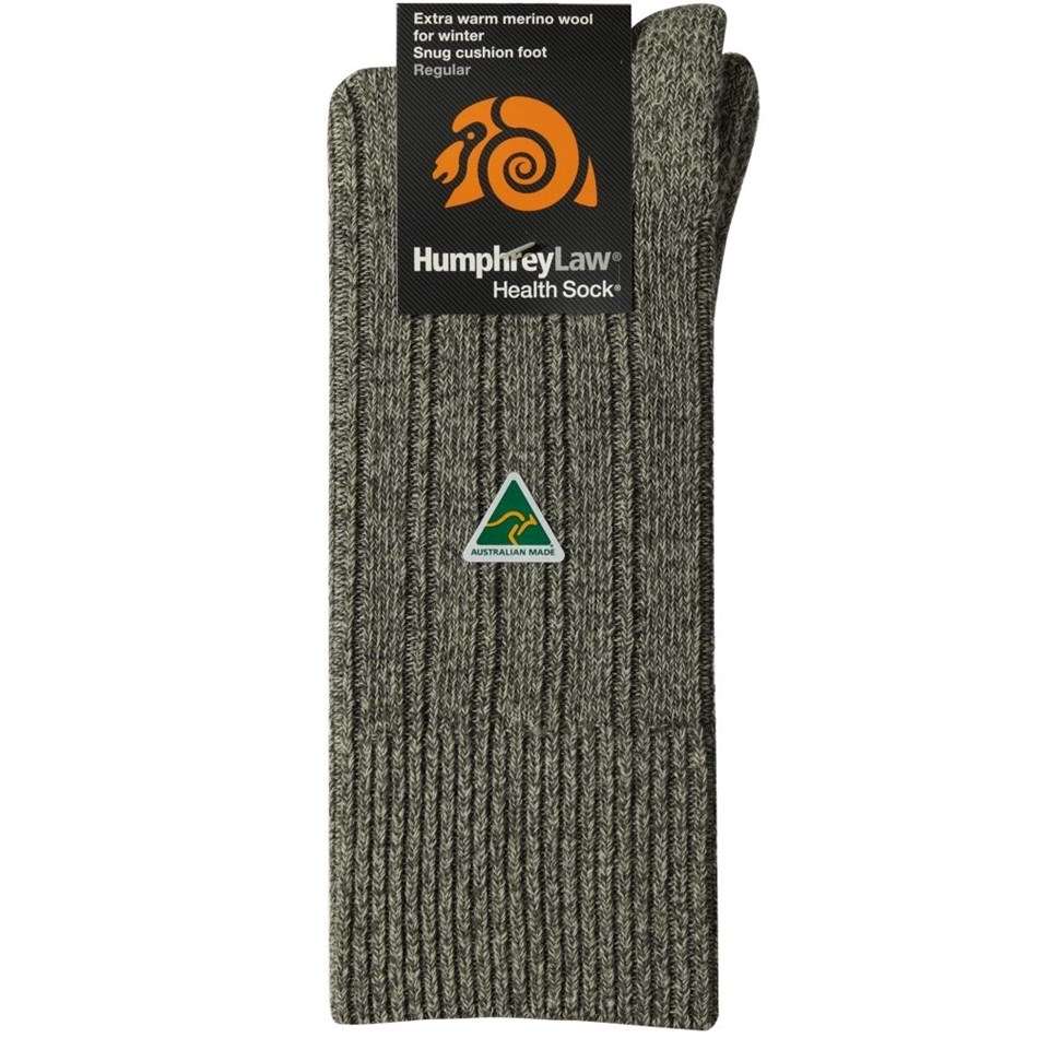 Humphrey Law Winter Merino No Tight Elastic Top Health Socks - 514 bone sage