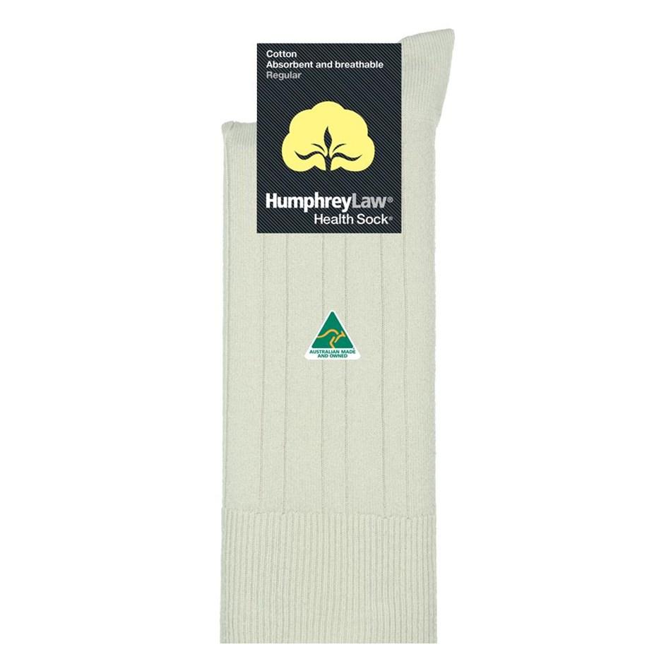 Humphrey Law Pure Cotton No Tight Elastic Black Health Socks - 10 bone