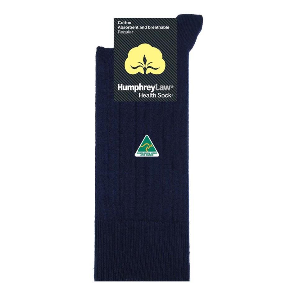 Humphrey Law Pure Cotton No Tight Elastic Black Health Socks - 69 navy