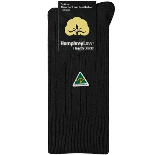 Humphrey Law Pure Cotton No Tight Elastic Black Health Socks