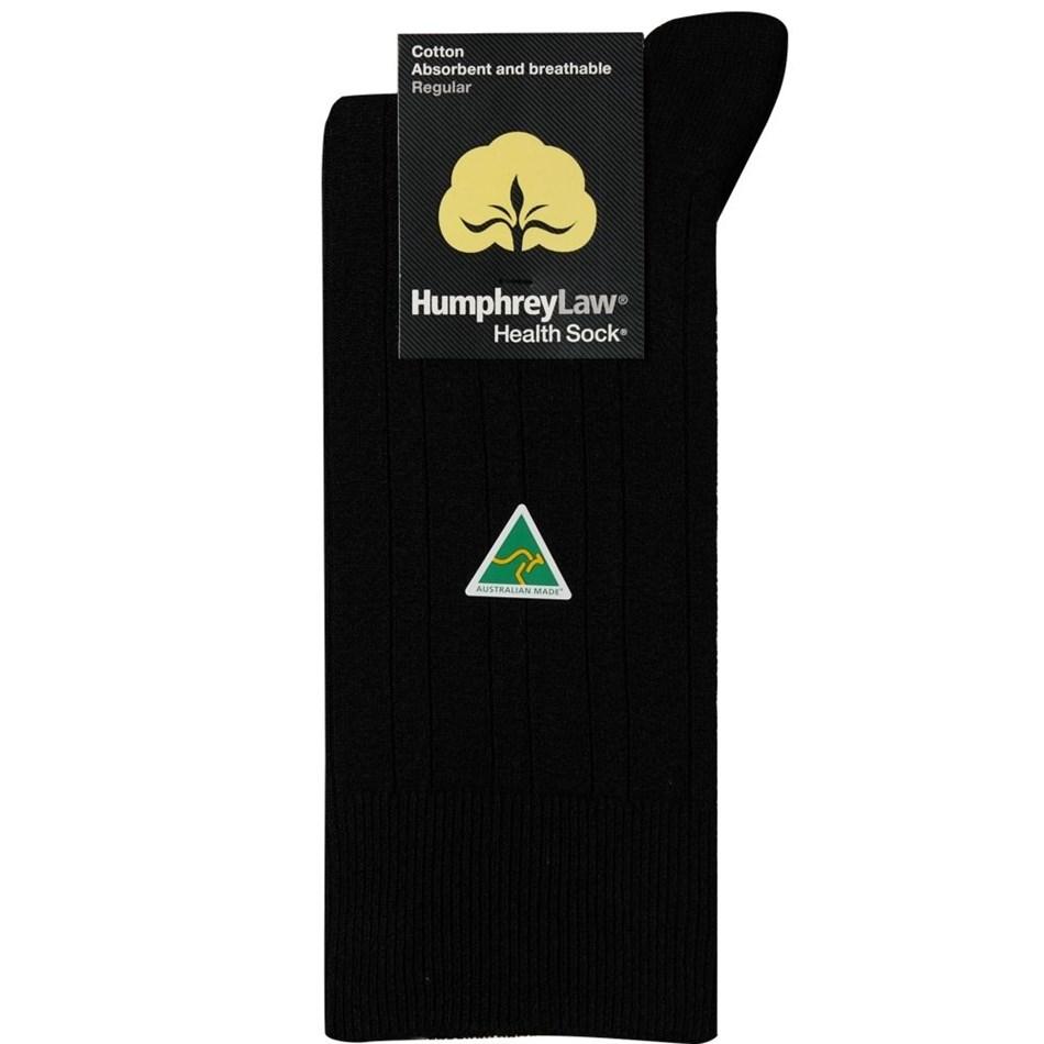Humphrey Law Pure Cotton No Tight Elastic Black Health Socks - 9 black