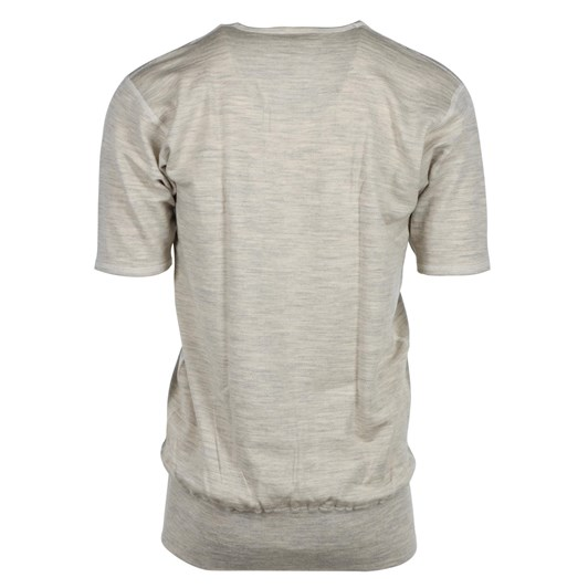Weft D23 Button Front Short Sleeve Crew