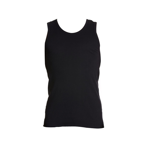 Jockey Black Athletic Singlet - blk - black