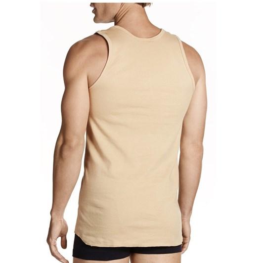 Jockey Tan Athletic Singlet