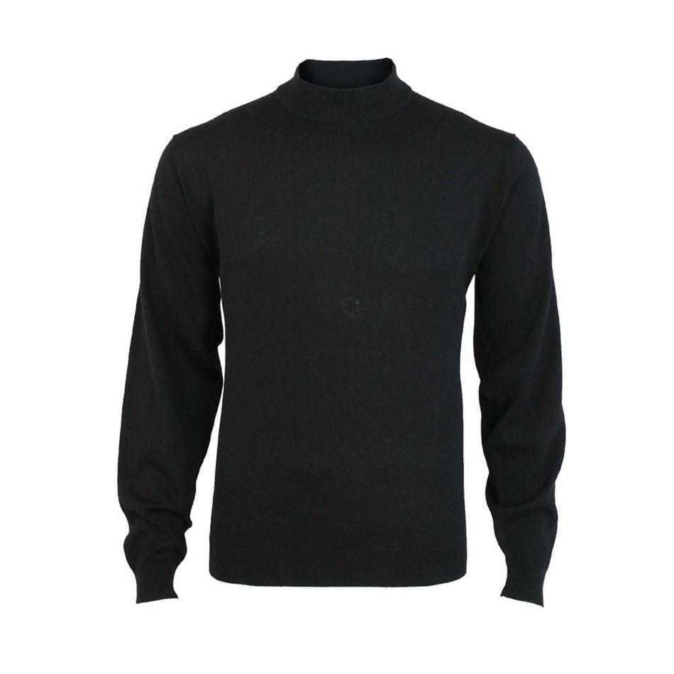Silverdale Super 2/50s Fine Merino Turtleneck Pullover - black
