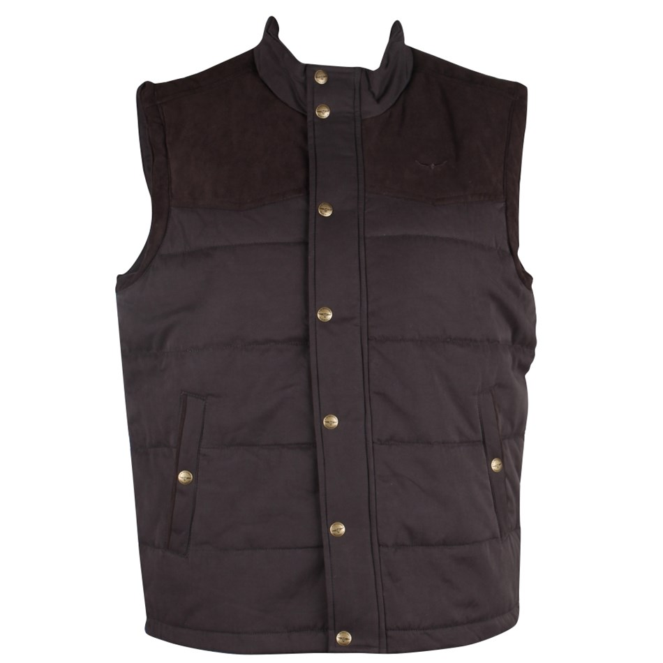 R.M. Williams Carnarvon Vest - 08 - chocolate