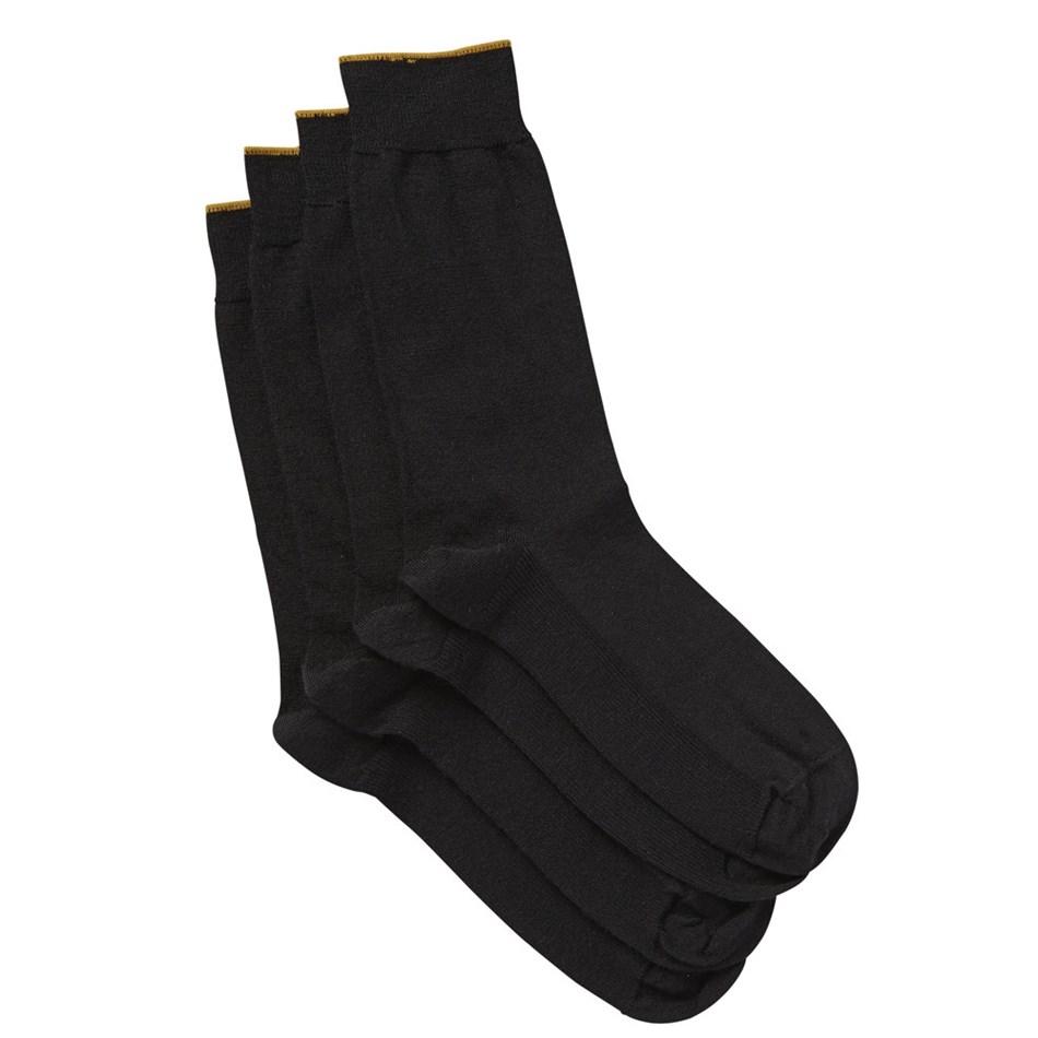 Jockey Gold Top Merino Wool Socks 2 Pack - blk - black
