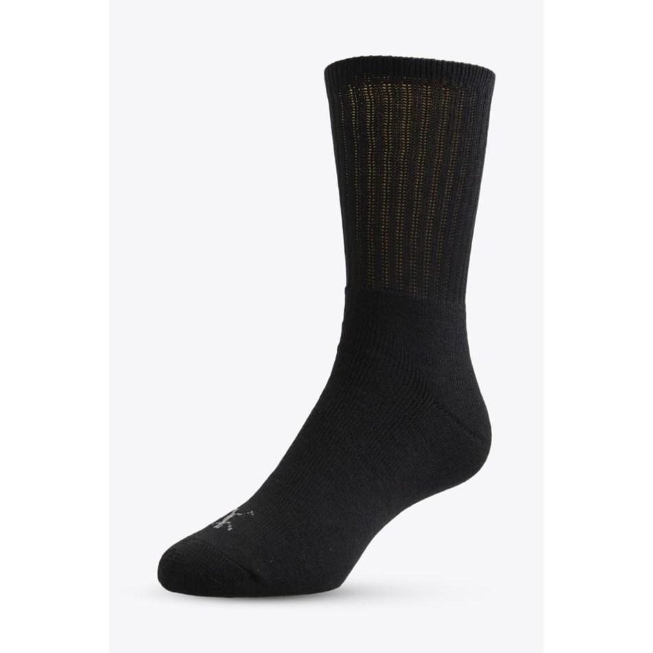 NZ Sock Co Cotton Crew Socks 3 Pack - black