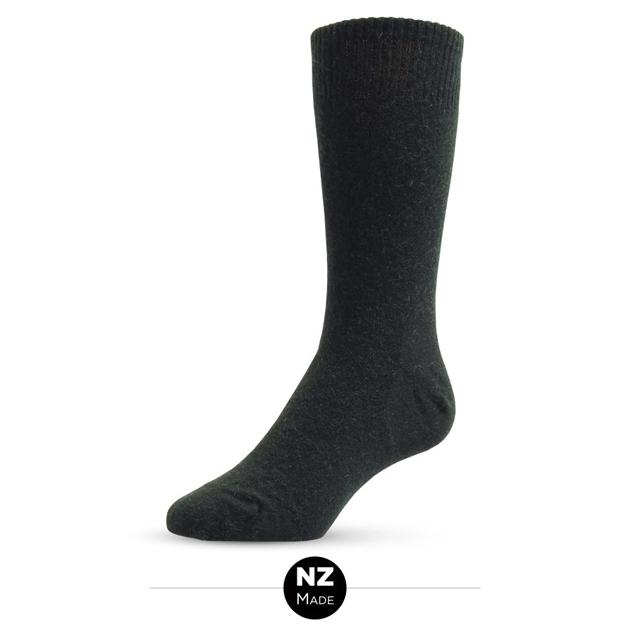 NZ Sock Co Possum Merino Plain Socks - black