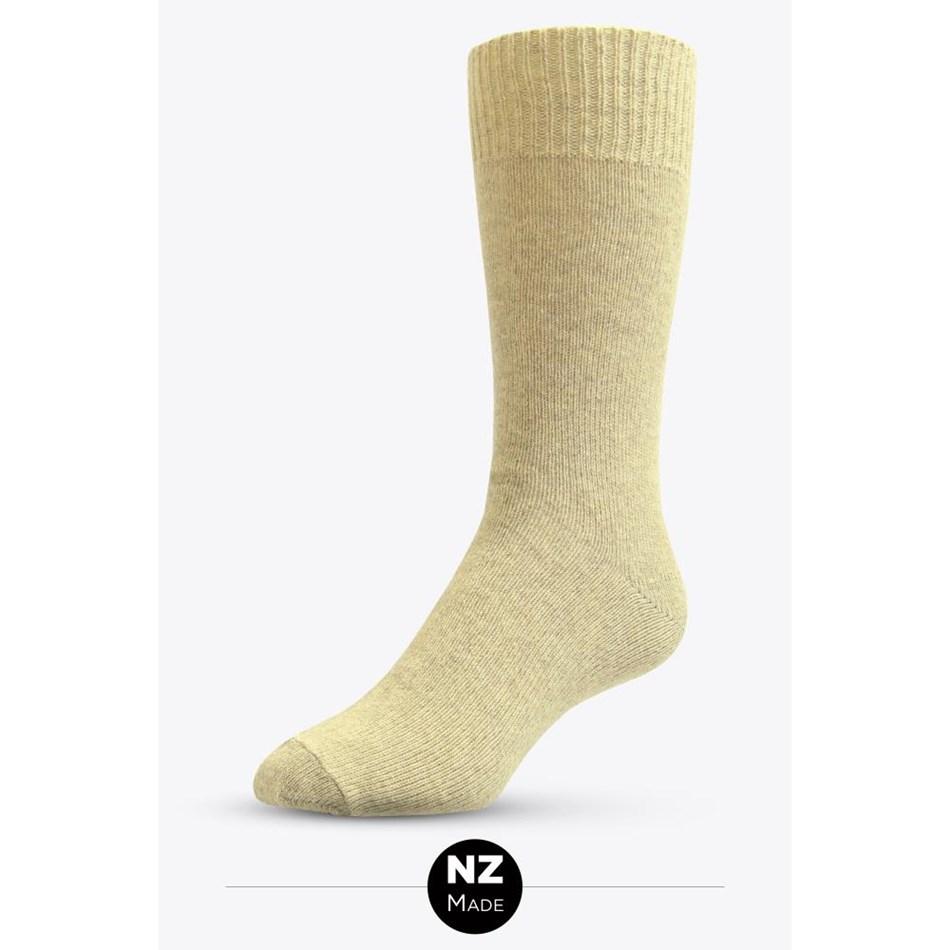 NZ Sock Co Possum Angora Plain Socks - natural