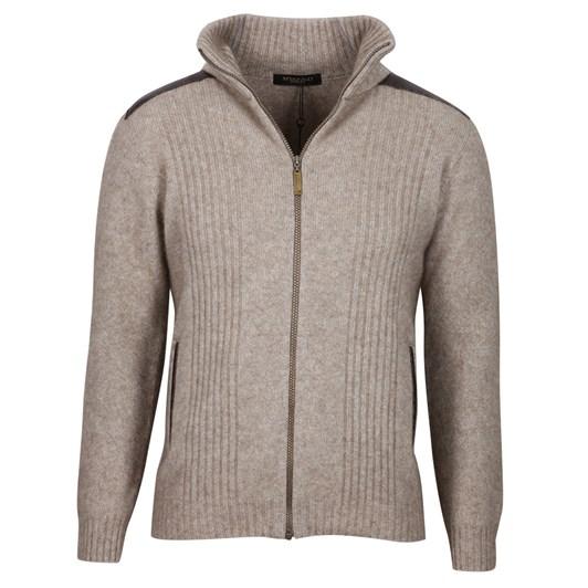 Mcdonald Zip Jacket With Leather Trim