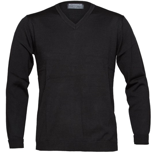 Silverdale Fine Vee Neck Pullover - Tailored Fit