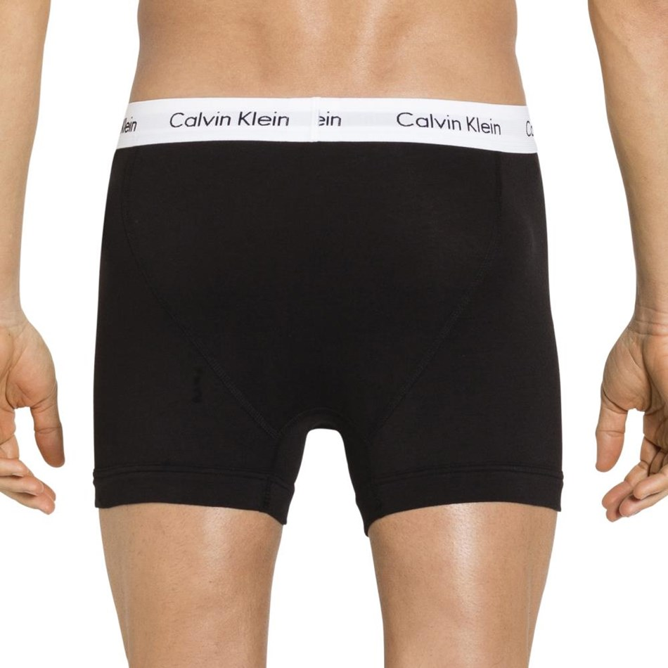 Calvin Klein Cotton Stretch 3Pack Trunk - b001 black