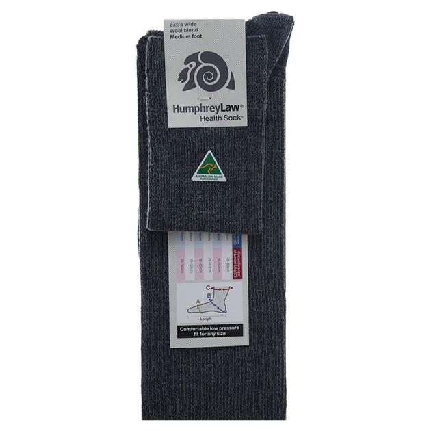 Humphrey Law Wool Socks Xtra Wide - scots grey