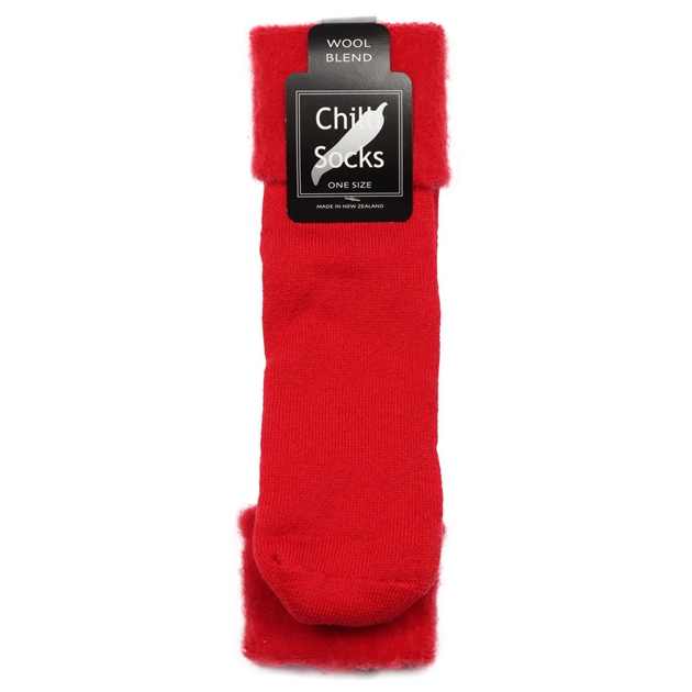 Chilli Socks Plain Sock - red