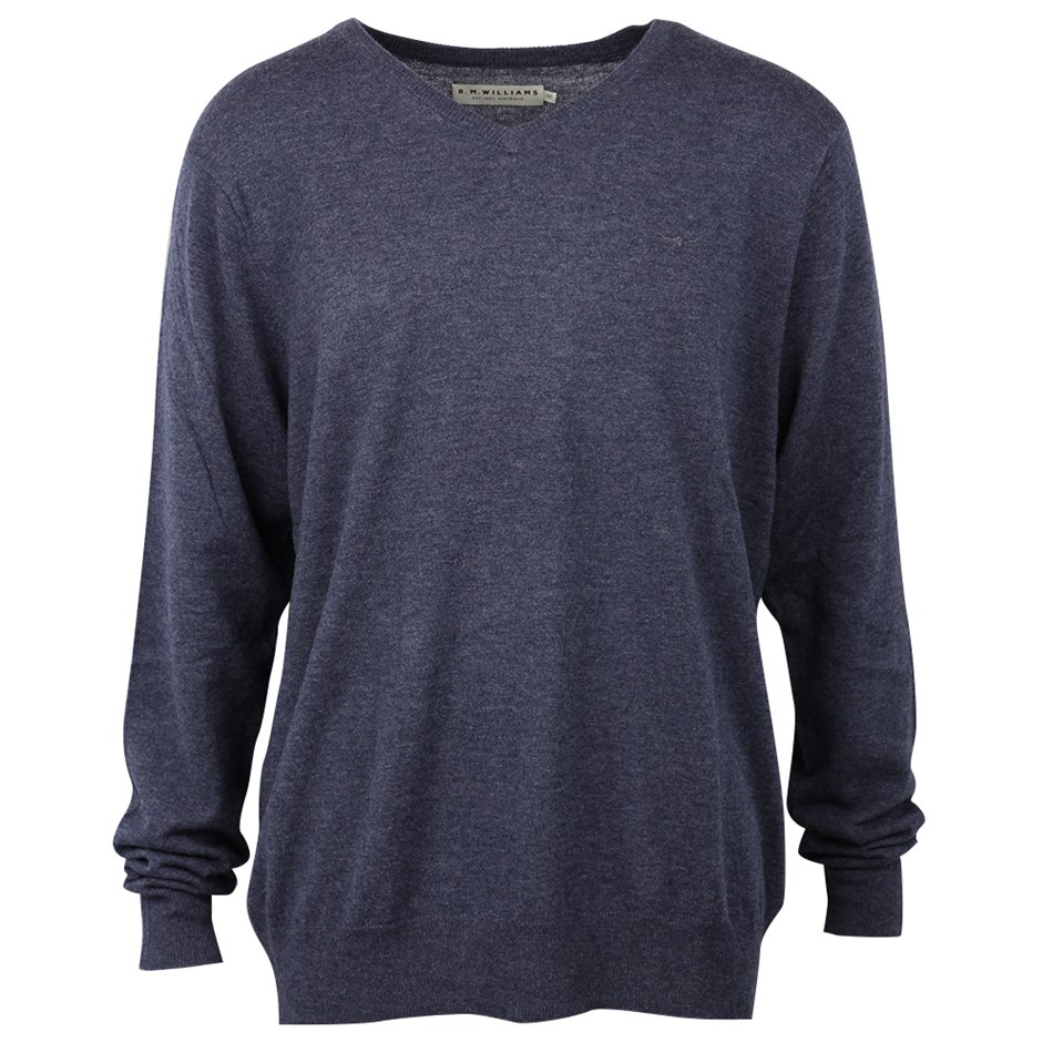 R.M. Williams Harris Sweater - um01 bluemarle
