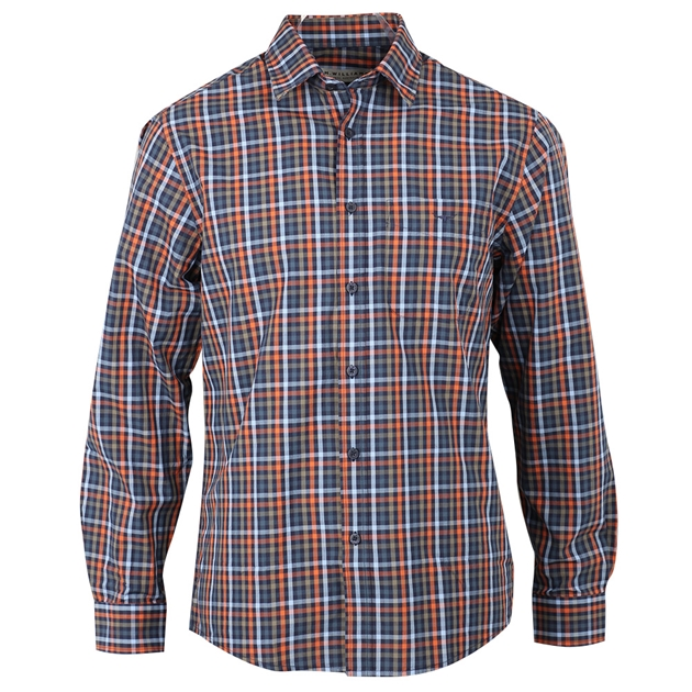R.M. Williams Collins Shirt - ke01 bluekhakiorange