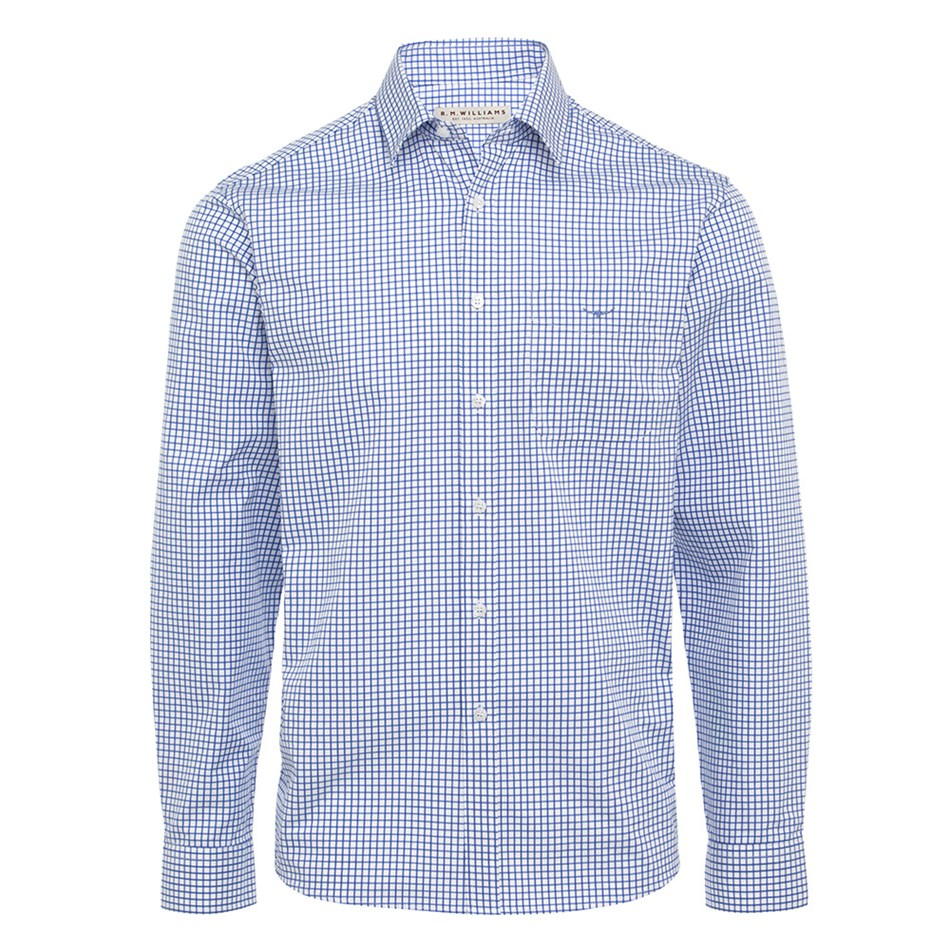 R.M. Williams Collins Shirt - wsp7 whiteblue