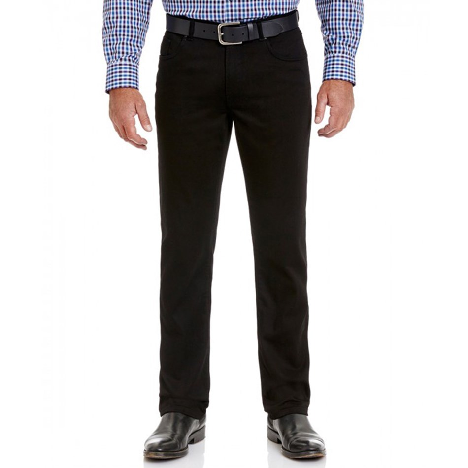 Gazman Straight Leg Jean - black